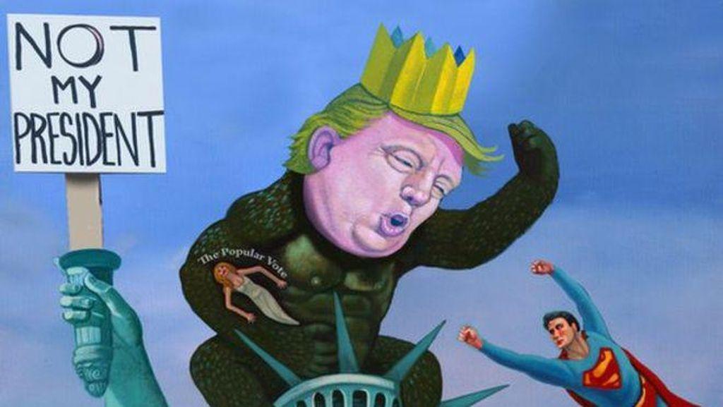 Lukisan Trump dan Madonna Jadi Viral di Sosmed