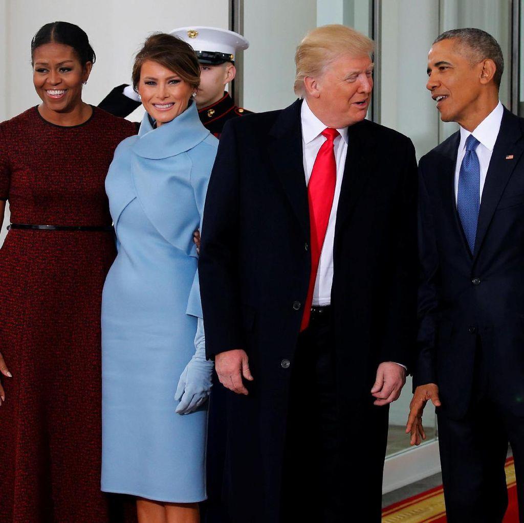 Obama dan Trump Berangkat Bersama ke Gedung Capitol