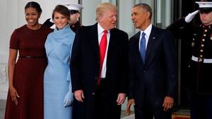 Sebelum Dilantik, Trump Minum Teh Bersama Obama di Gedung Putih