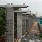 Penampakan Terkini LRT Bekasi-Cawang