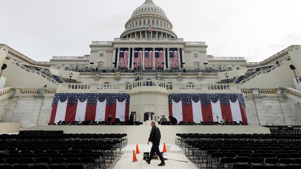 Ini Persiapan Gedung Capitol Jelang Pelantikan Trump