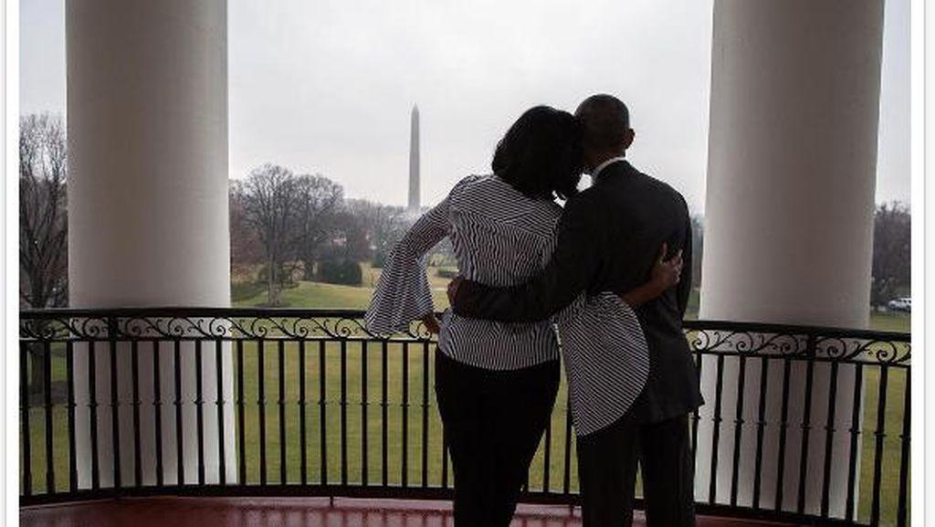 Foto Terakhir Michelle Obama Sebagai Ibu Negara Bikin Meleleh