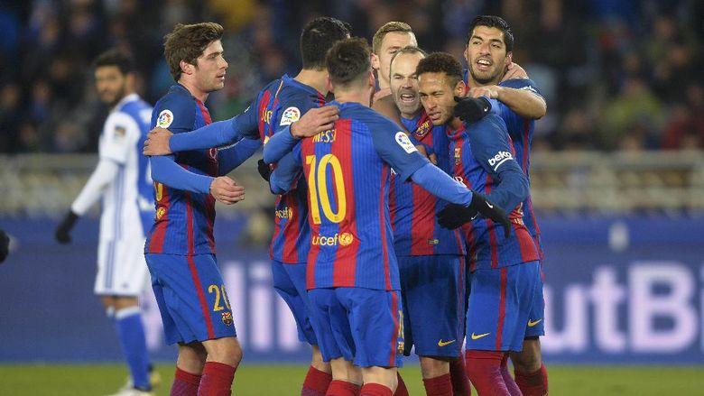 Penalti Neymar Menangkan Barca di Kandang Sociedad
