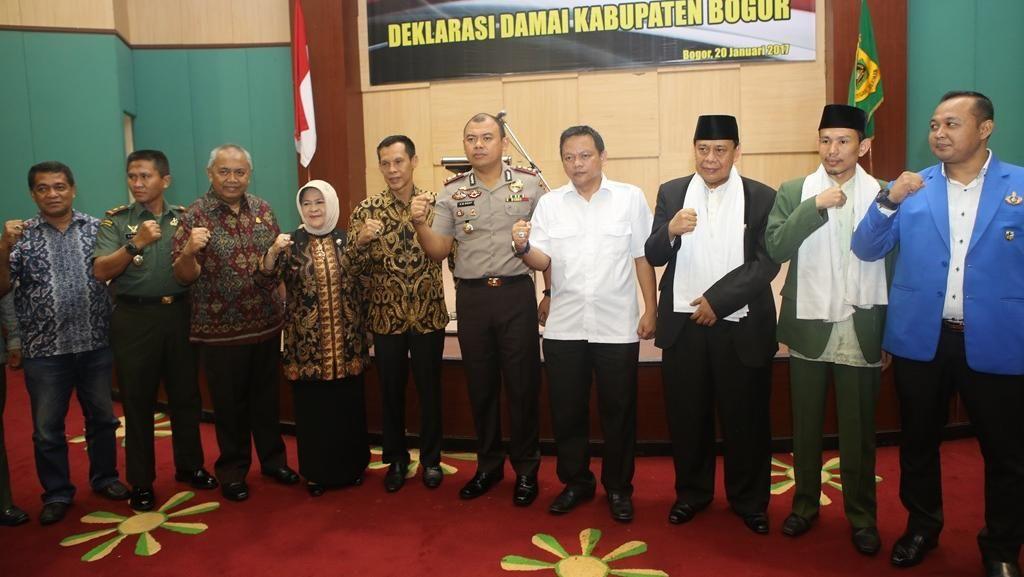 Kabupaten Bogor Gelar Deklarasi Damai, Tolak Hoax dan Radikalisme