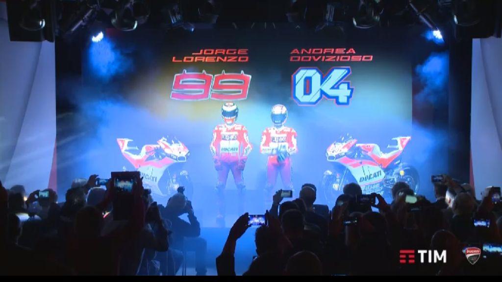 Ducati Luncurkan Motor Andalan Lorenzo dan Dovizioso di 2017