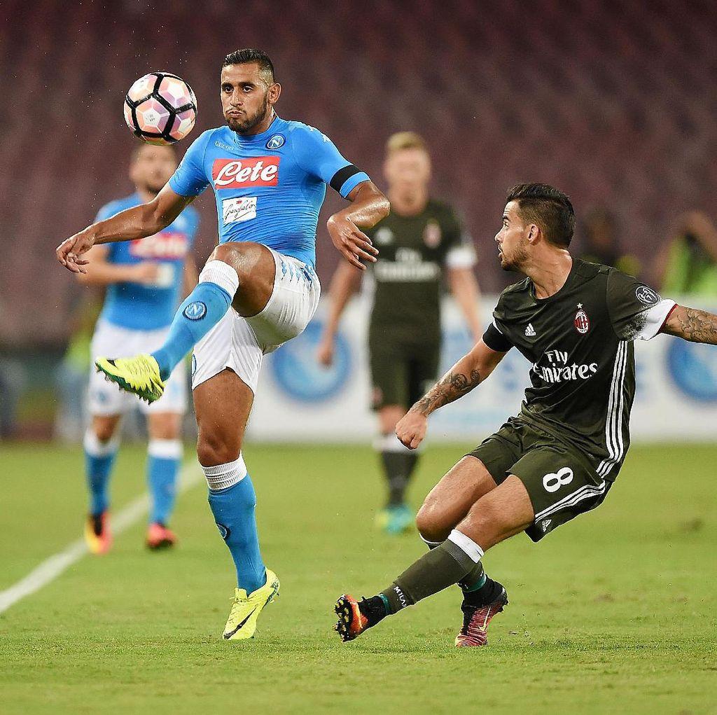 Napoli Sedang Dominan atas Rossoneri