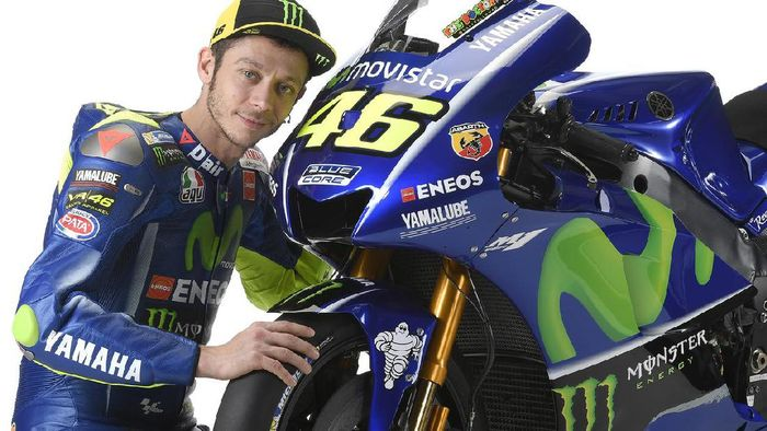 Valentino Rossi dan motor Yamaha M1. Foto: ist (yamahamotogp.com)