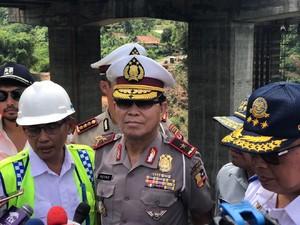 Polisi Ingin Perbaikan Jembatan Cisomang Rampung Sebelum Mudik