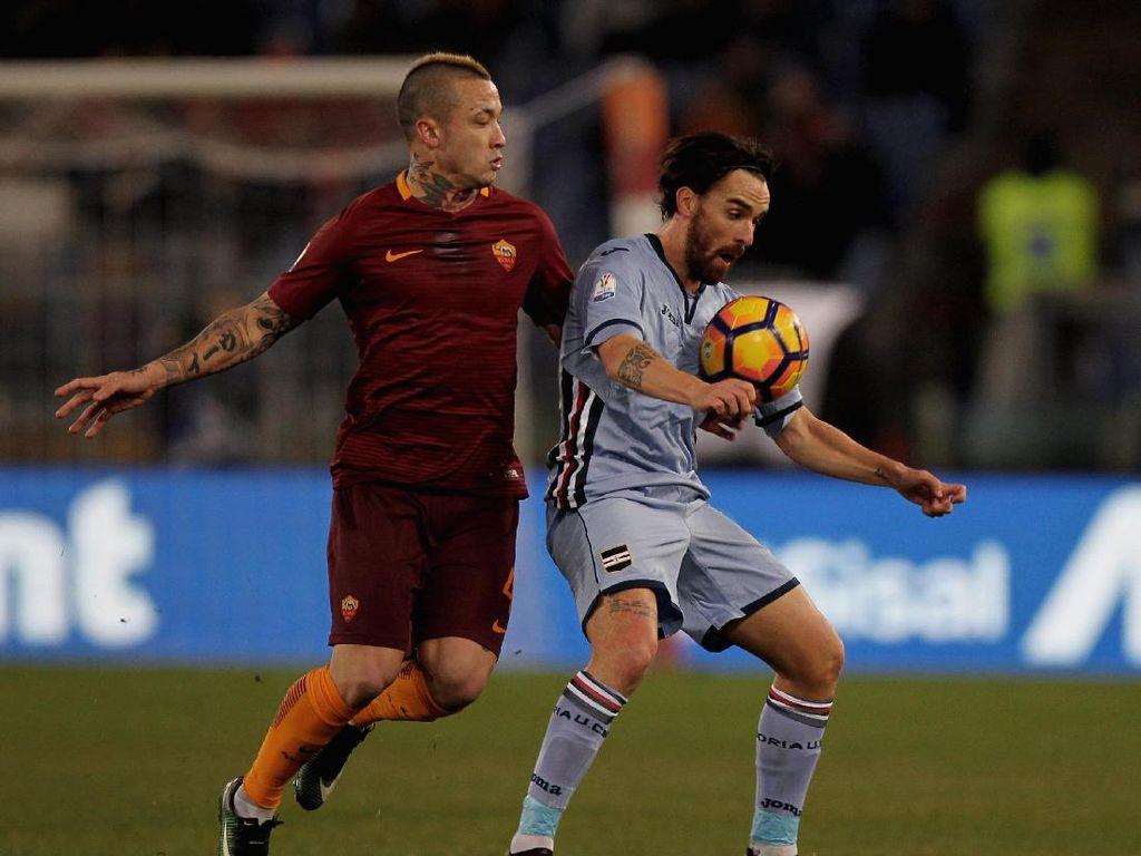 Libas Sampdoria 4-0, Roma ke Perempatfinal