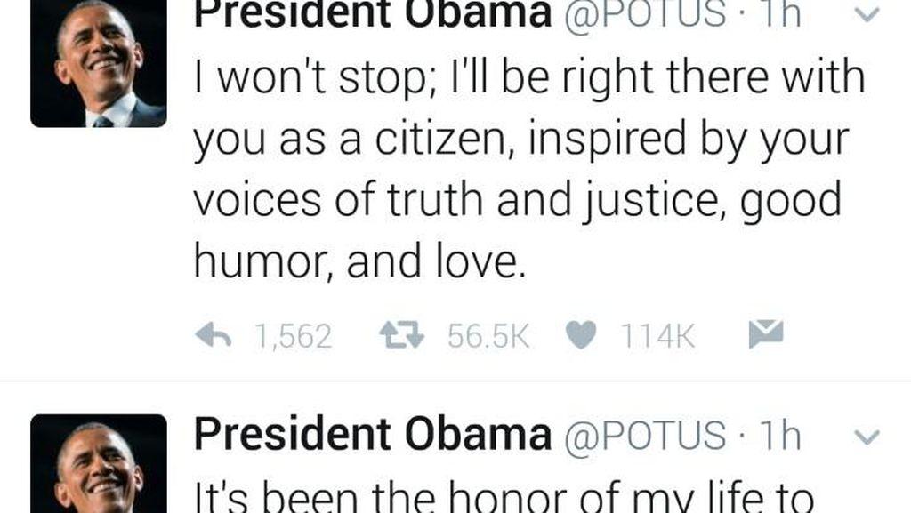 Pamitan, Presiden Obama: Kehormatan Bagi Saya Melayani Warga AS
