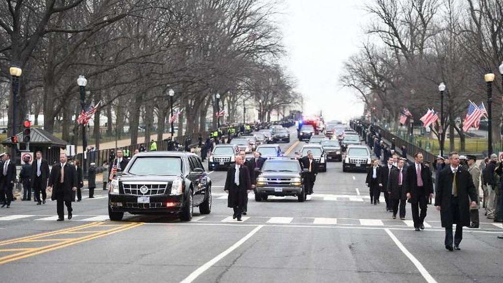 Parade Dimulai, Presiden Trump Memulai Perjalanan ke Gedung Putih