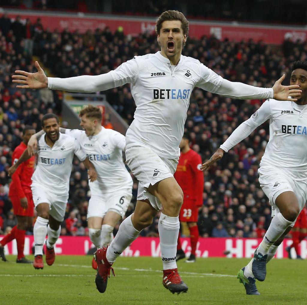 Liverpool Dipermalukan Swansea 2-3 di Anfield