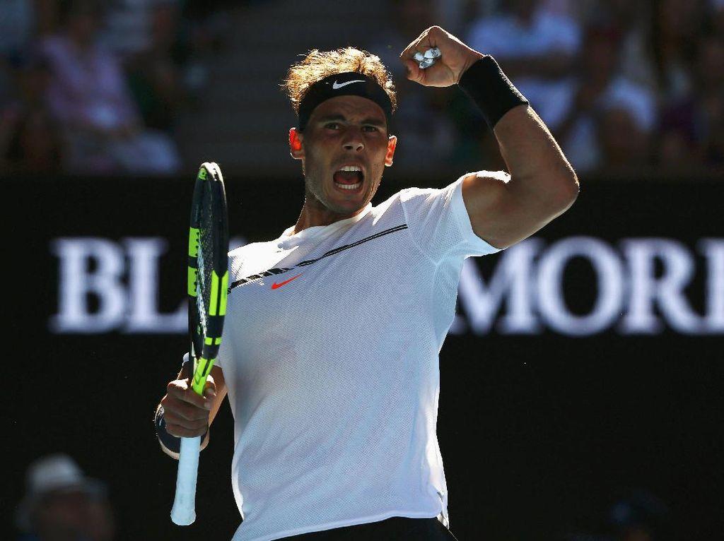 Tarung Lima Set dengan Petenis Remaja, Nadal Lolos ke 16 Besar