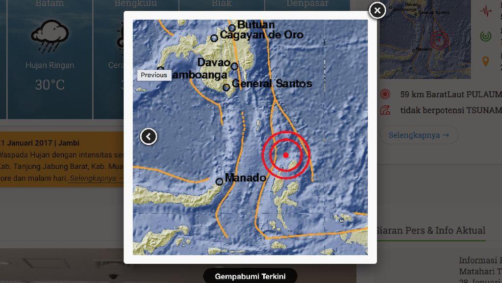 Gempa 5,6 SR Terjadi di Pulau Morotai Maluku