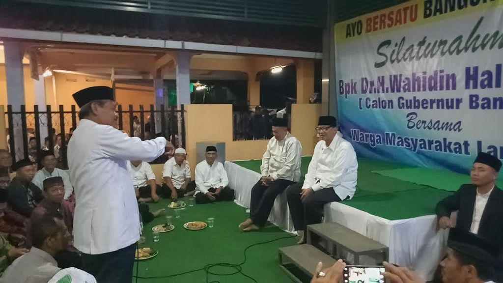 Cagub Wahidin Janjikan Program Multiguna untuk Warga Banten