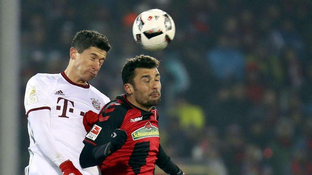 Gol Lewandowski di Masa Injury Time Menangkan Bayern atas Freiburg