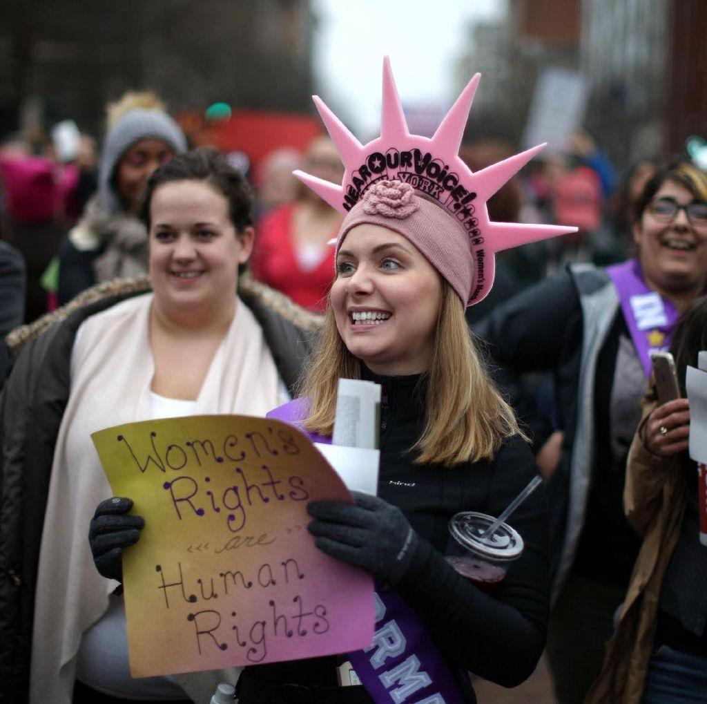 Sehari Pasca Dilantik, Presiden Trump Didemo Ratusan Ribu Wanita