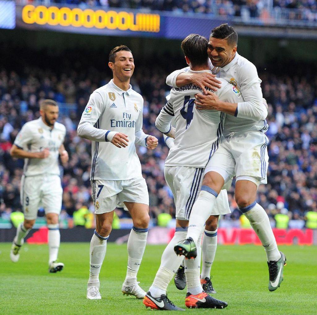 Dua Gol Ramos Menangkan Madrid Atas Malaga