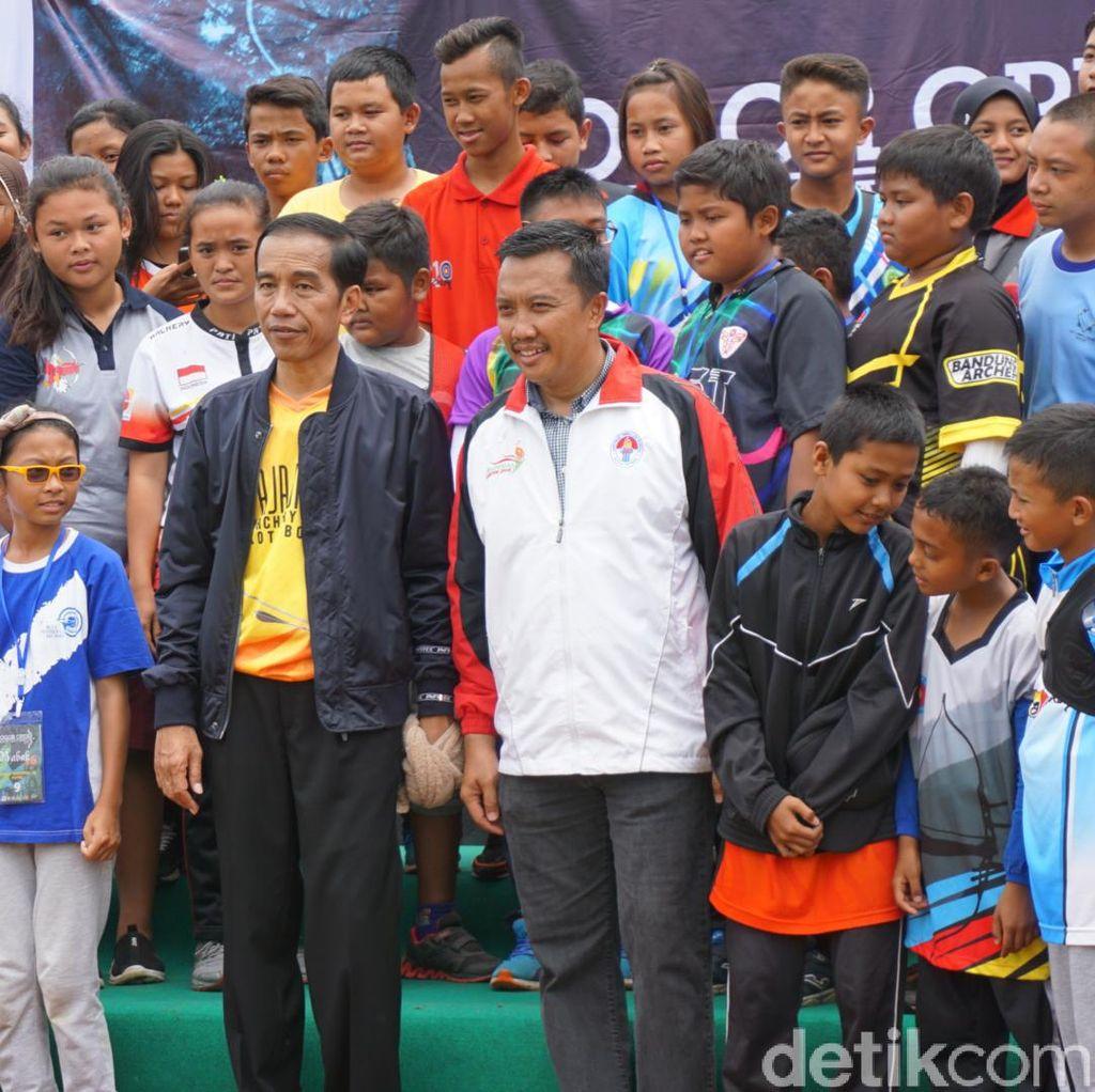 Jokowi: Saya Hanya Penggembira, yang Penting Bisa Memotivasi Atlet