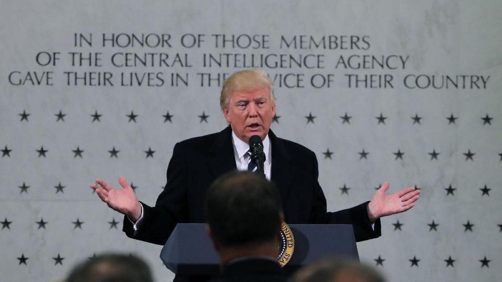 Kunjungi Markas CIA, Presiden Trump: Kita Harus Singkirkan ISIS