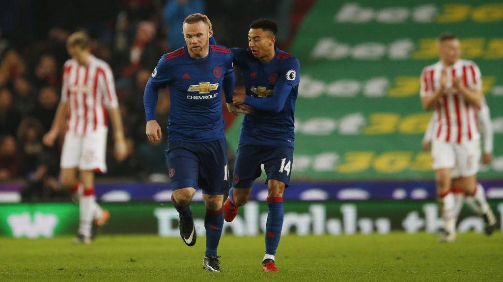 Gol Rooney di Injury Time Selamatkan MU dari Kekalahan