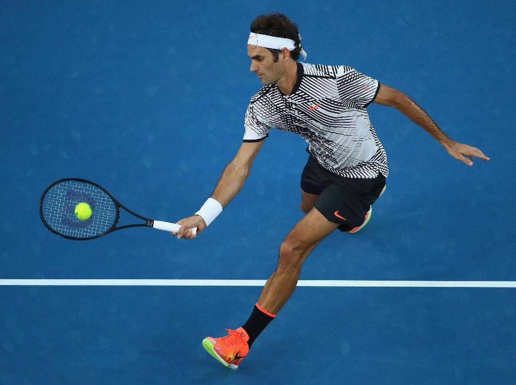 Kalahkan Nishikori dalam Lima Set, Federer Pijak Perempatfinal