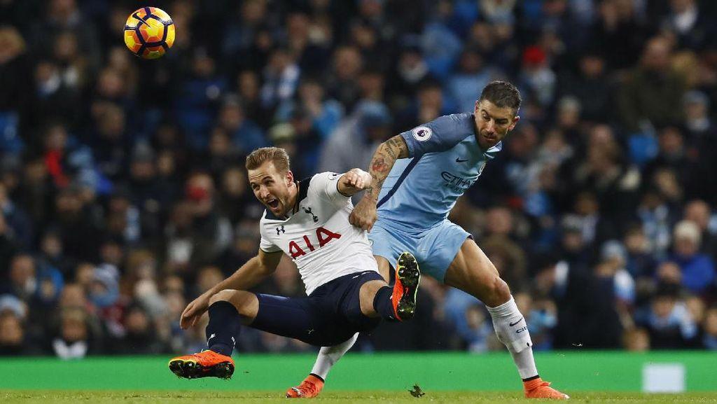 Buang Keunggulan Dua Gol, City Diimbangi Spurs