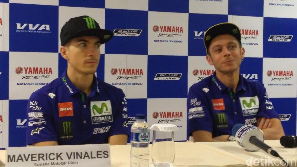 Valentino Rossi dan Maverick Vinales Ada di Jakarta