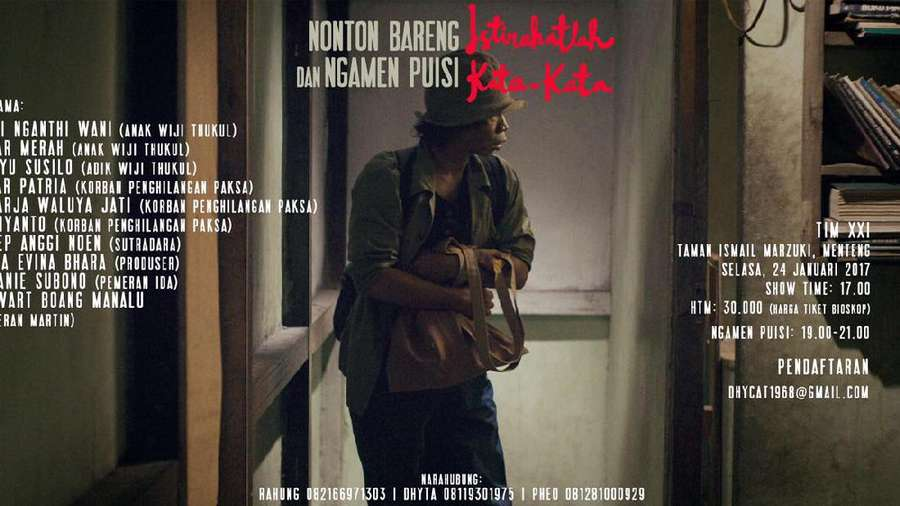 Yuk, Nobar Film tentang Penyair Wiji Thukul Sambil Ngamen Puisi!