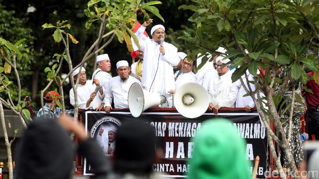 Rizieq Minta Massa FPI Kawal Pemeriksaan Munarman-Bahtiar Nasir