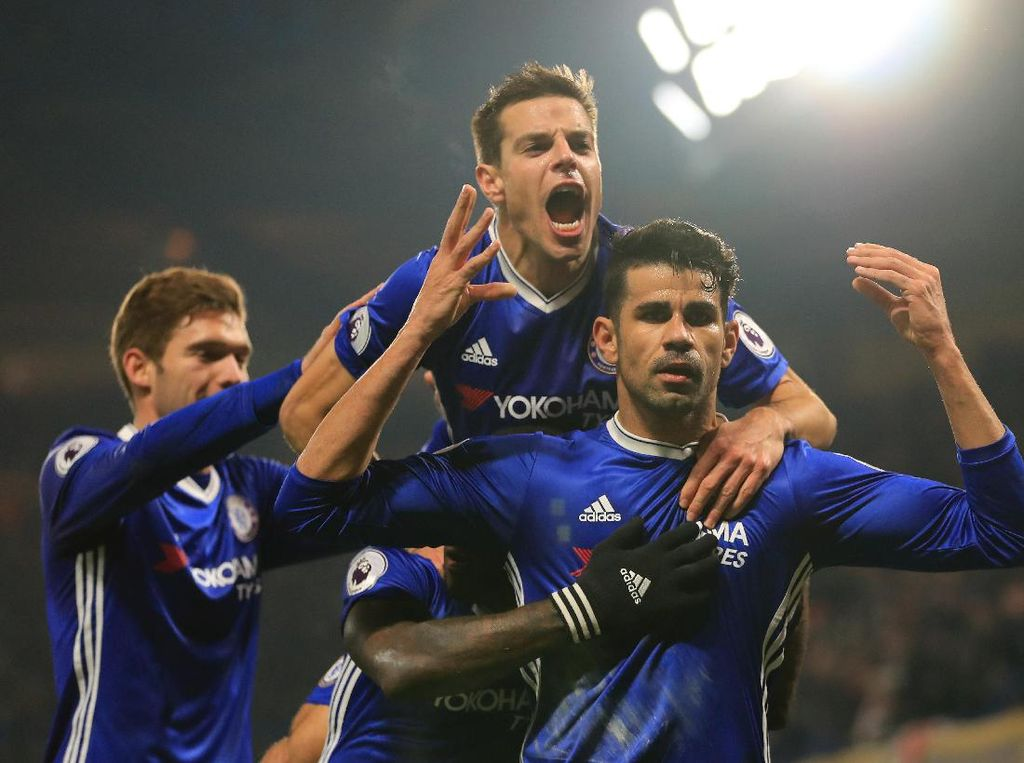 Perayaan Gol Banyak Omong Diego Costa