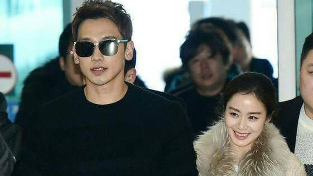 Mesranya Rain dan Kim Tae Hee Menuju Bali untuk Honeymoon
