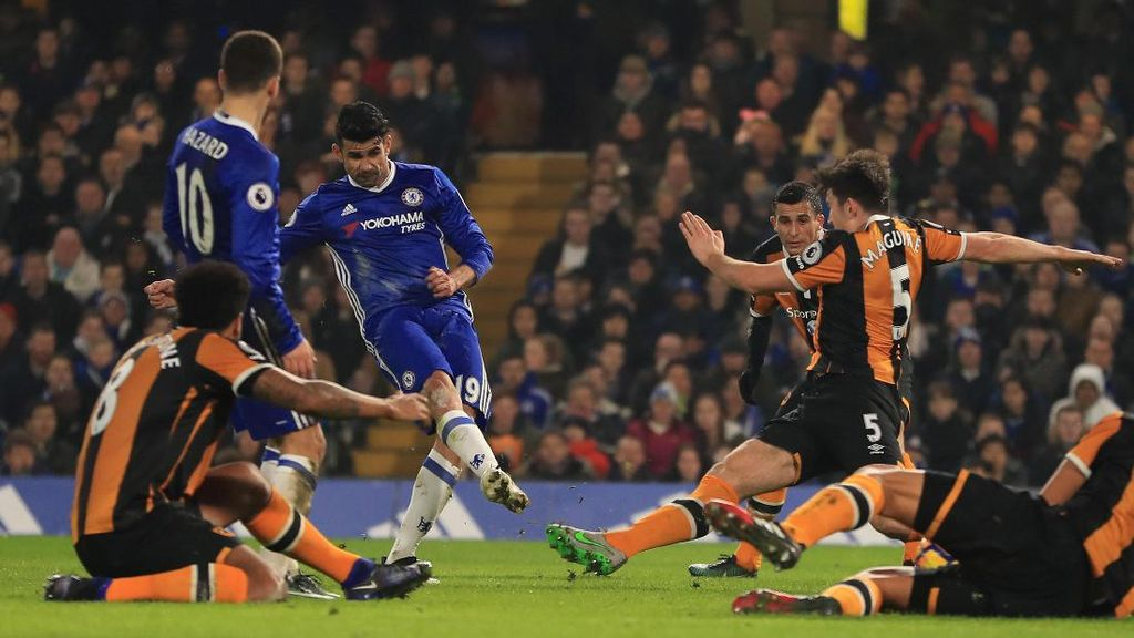 Diego Costa Bawa Chelsea Ungguli Hull City