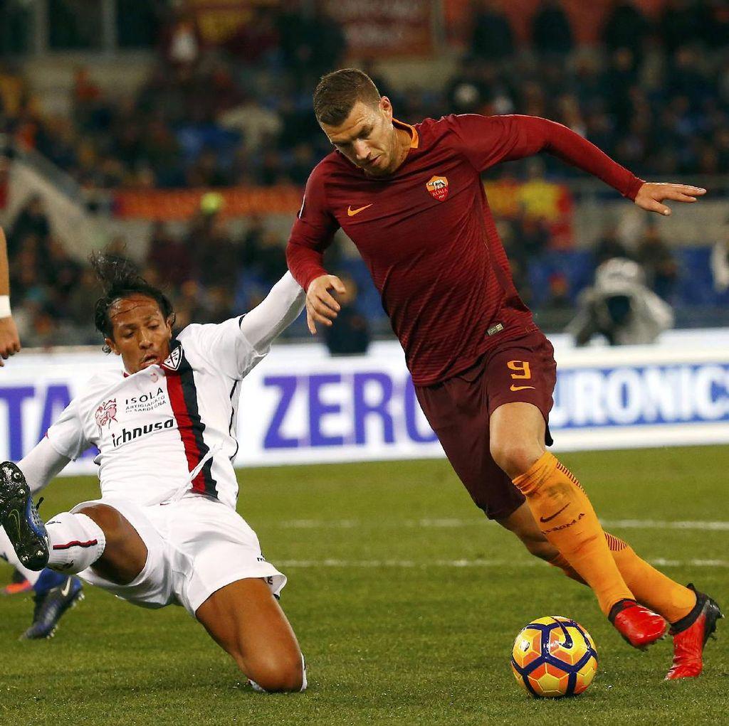 Gol Tunggal Dzeko Menangkan Roma atas Cagliari