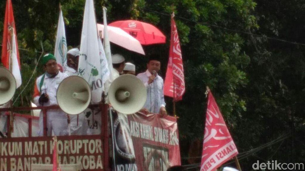 Orasi di Depan Kementan, Bachtiar Nasir Minta Hukum Ditegakkan
