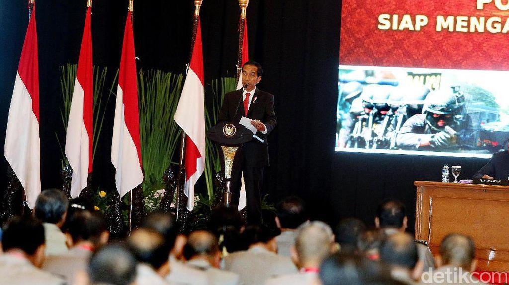 Jokowi Beri Wejangan di Rapim Polri