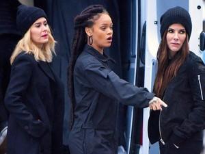 Intip Sandra Bullock, Rihanna dan Sarah Paulson Syuting Oceans Eight