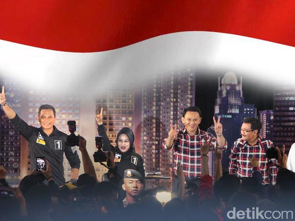 Survei LSI Denny JA: Agus 30,9%, Ahok 30,7%, Anies 29,9%