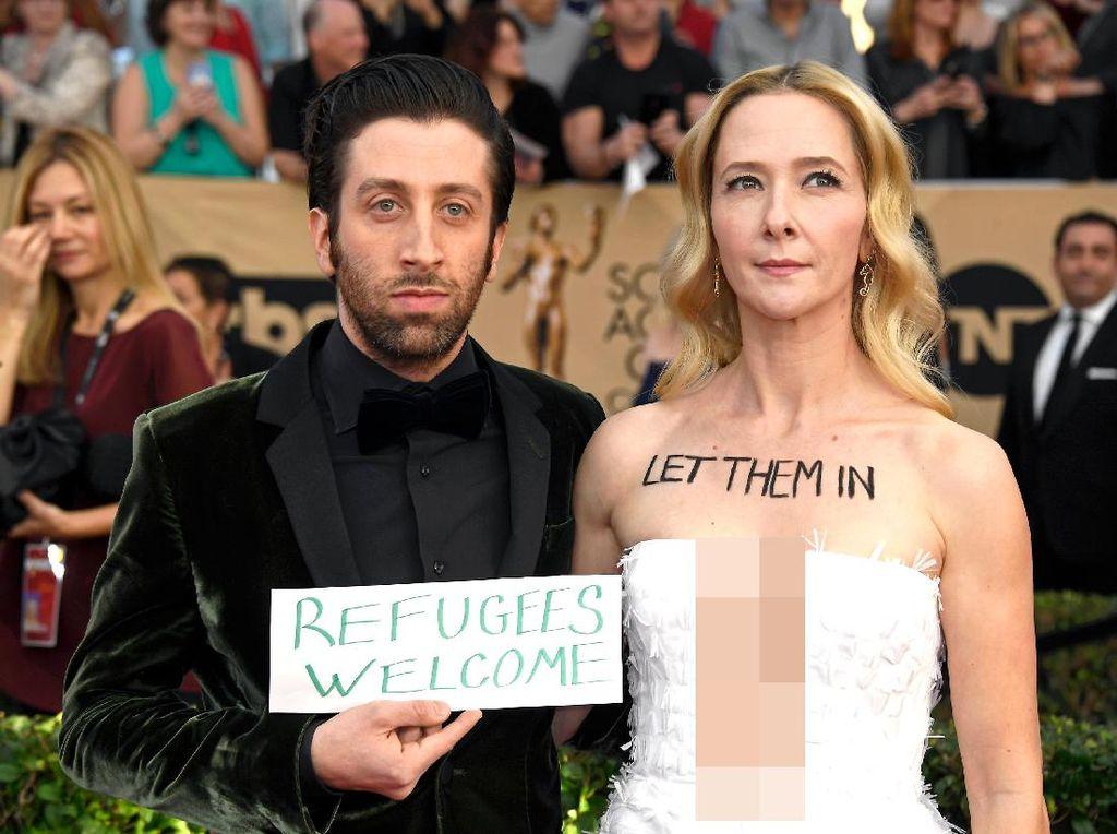 Selebriti Dunia Protes Kebijakan Imigrasi Trump di SAG Awards