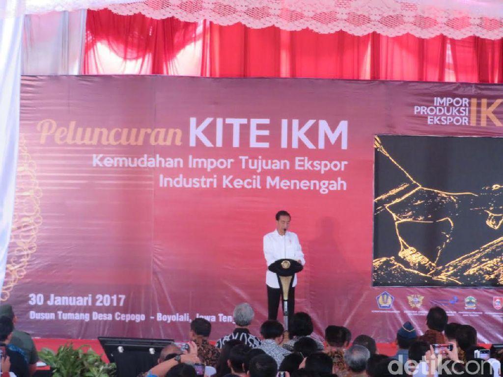 Jokowi: Usaha Kecil Akan Antre Demi Bebas Bea Masuk dan Pajak