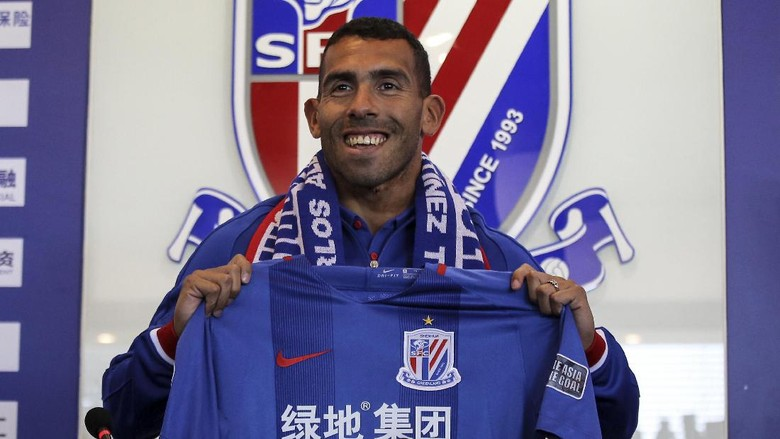 Debut Tevez di Liga China: Satu Gol dan Dua Assist