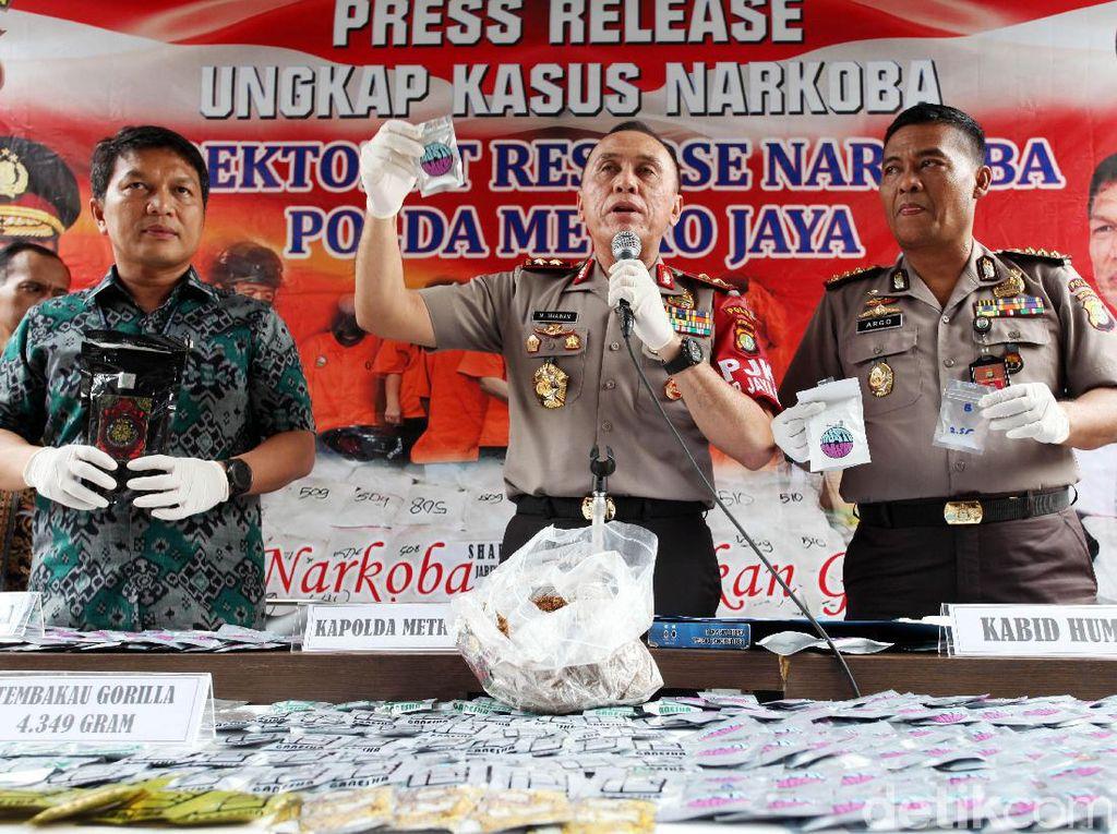 Polisi Ungkap Narkoba Jenis Tembakau Gorilla