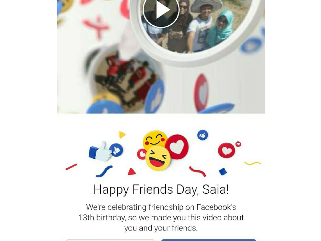 Facebook Rayakan Ultah dengan Video Friends Day