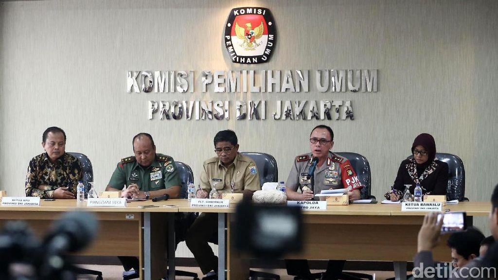 Plt Gubernur, Kapolda dan KPU DKI Gelar Rapat Jelang Pilgub