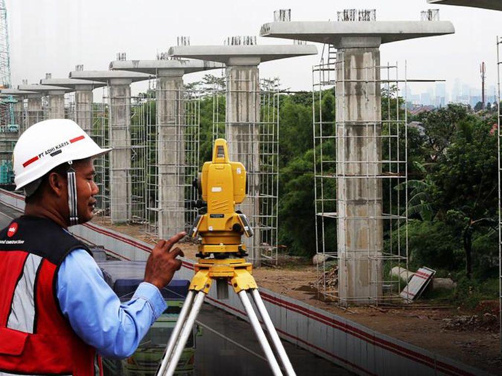 Pembangunan LRT Jabodebek Sudah 70%