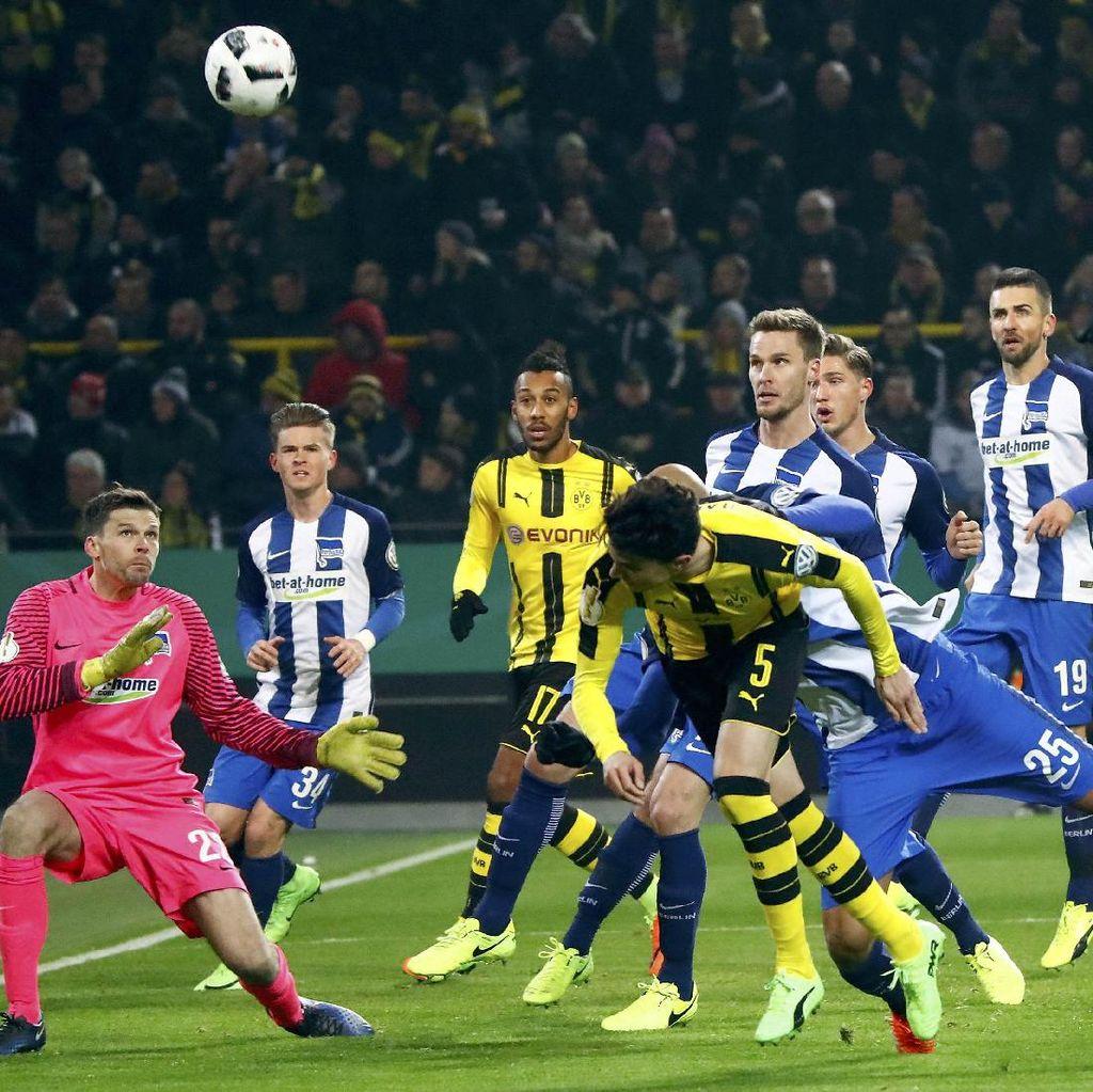Singkirkan Hertha Lewat Adu Penalti, Dortmund ke Perempatfinal