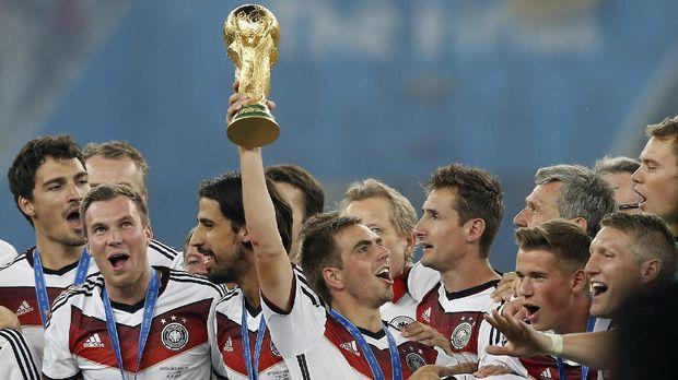 Philipp Lahm, pemain Bayern Munchen yang sukses mengantar Jerman juara Piala Dunia 2014.