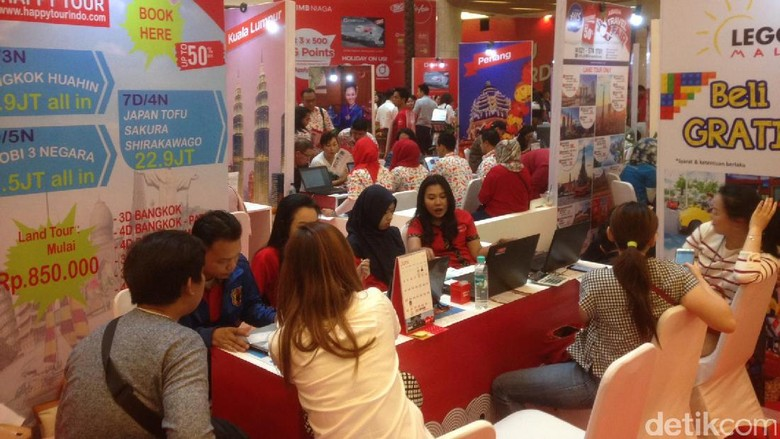 Foto: Suasana AirAsia Travel Fair (Afif/detikTravel)