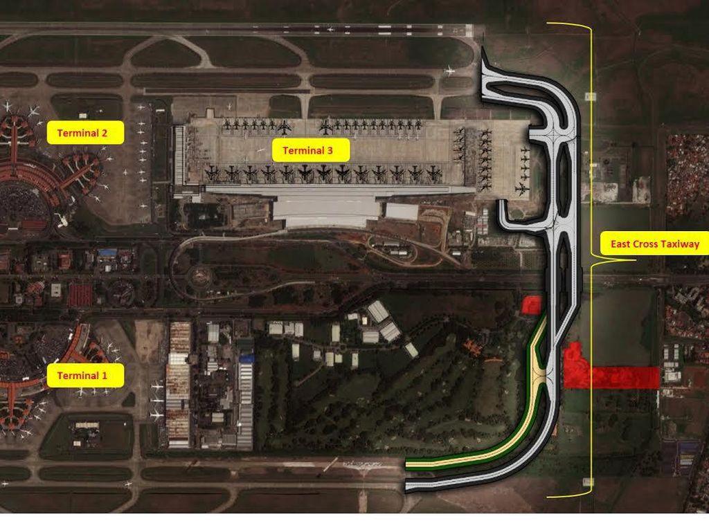AP II Bangun Jalur Penghubung Landasan Bandara Soetta Rp 1,15 T
