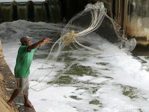 Menjala Ikan di Sungai Penuh Limbah